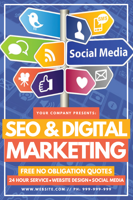 Copy of SEO & Digital Marketing Poster | PosterMyWall