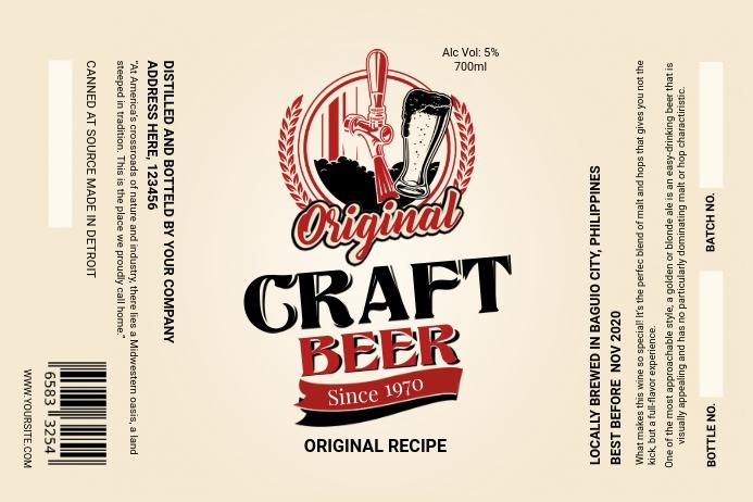 Sepia Craft Beer Label Etiket template