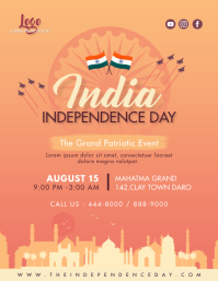 Sepia Independence Day Flyer Invitation template