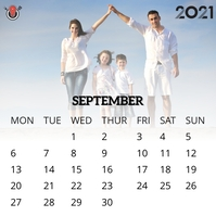 September 2021 calendar Instagram-bericht template