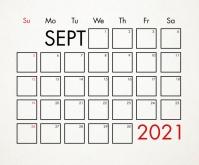 September 2021 Calendar Template Medium Reghoek