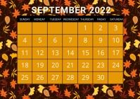 September calendar, event,schedule A4 template