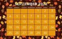 September calendar, event,schedule Tabloid template