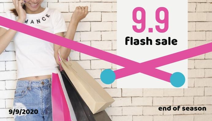 September Flash Sale 9.9 ส่วนหัวบล็อก template