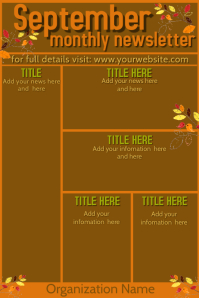 September Newsletter Template Plakkaat