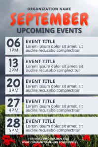 September Upcoming Event Flyer Poster template