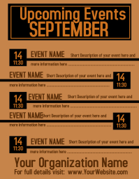 September Upcoming Events