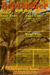 September Video Newsletter Poster template