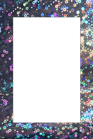 Sequin Party Prop Frame