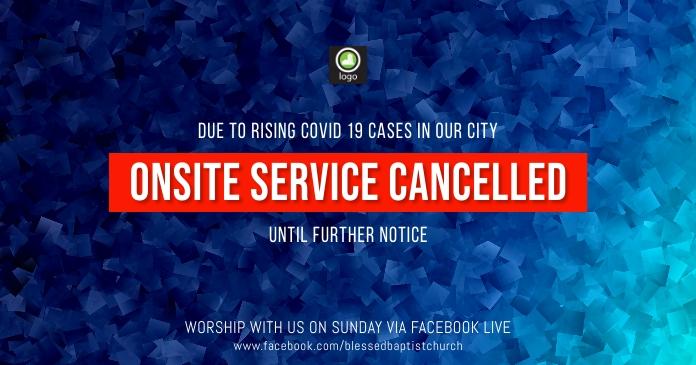 service cancelled รูปภาพที่แบ่งปันบน Facebook template