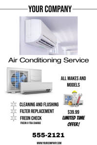 AIR CONDITIONING SERVICE Póster template