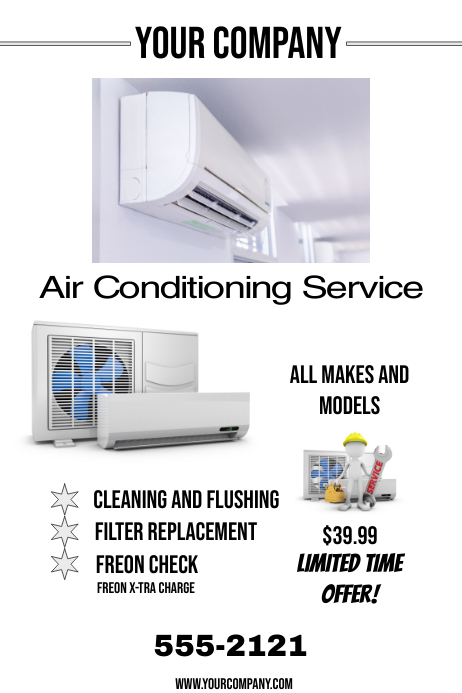 AIR CONDITIONING SERVICE Plakat template