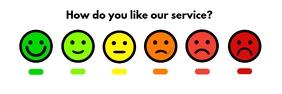 Service Feedback Scale Board Template Ibhana 2' × 6'