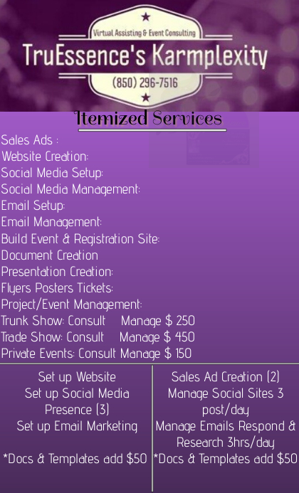 service price list template postermywall