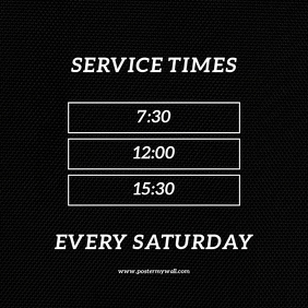 Service Times Template
