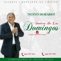 Servicio De Los Domingos Instagram-bericht template