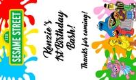 Sesame Street Gift Tags Etiqueta template