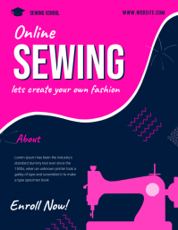 Sewing class flyer template