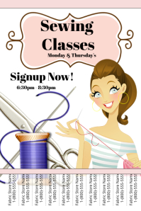 Customizable Design Templates For Sewing Class Postermywall
