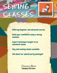 Sewing Crafting Class Flyer
