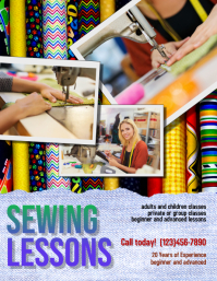 Sewing Lessons Instruction Flyer template