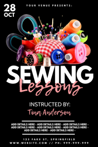 Sewing Lessons Poster