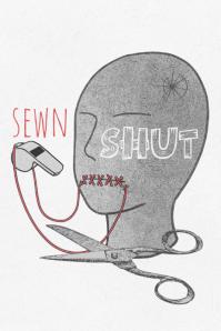 SEWN SHUT Plakat template