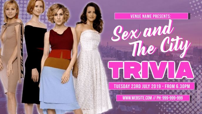 Sex And The City Trivia Facebook Event Cover template