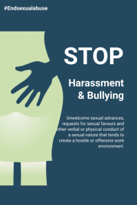 Sexual Harassment awareness flyer Poster template