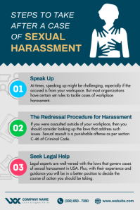 Sexual Harassment Awareness Poster