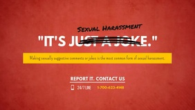 Sexual Harassment Facebook Cover Video Templa template