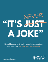 Sexual harassment never a joke campaign flyer
