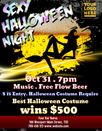 Sexy halloween party Flyer (US Letter) template
