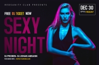 Sexy Night banner template