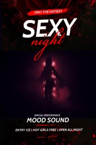 Sexy Night Party Flyer Cartaz template