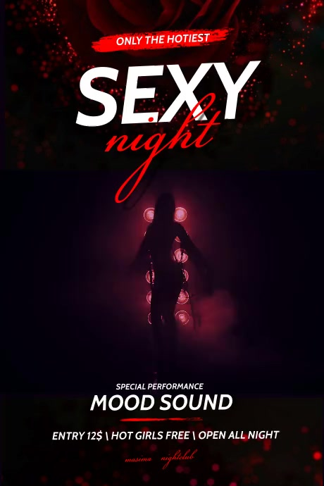 Sexy Night Party Flyer Plakat template