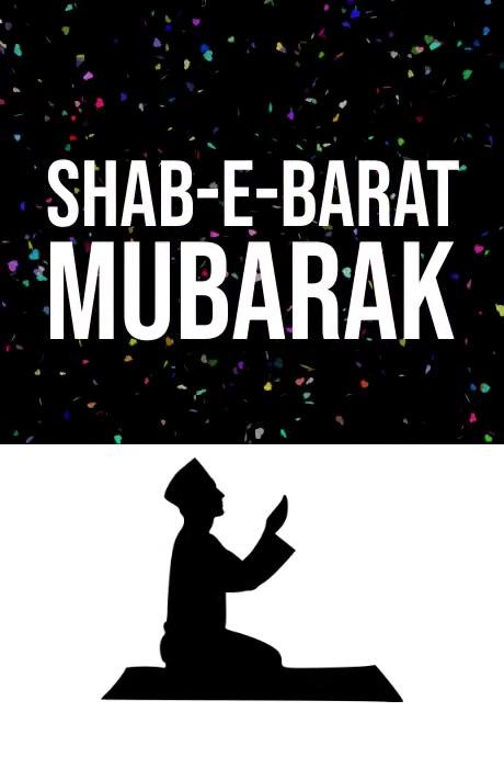 Shab-e-barat Poster template