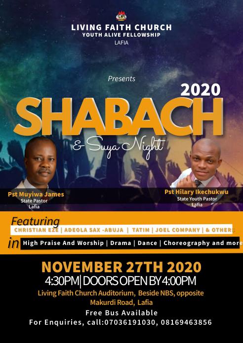 Shabach & praise & Suya night A6 template