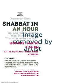 Shabbat cooking class