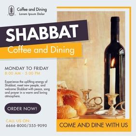 Shabbat Kosher Dinner Invitation Instagram Post template