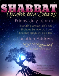 Shabbat Under the Stars Flyer (Letter pang-US) template