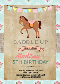 10 920 horse birthday invitation