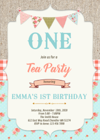Shabby chic theme invitation
