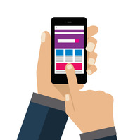Shaghil SMS Marketing logo template