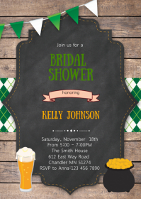 Shamrock st.patrick theme invitation