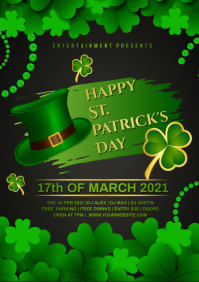 shamrocks st patricks A4 template