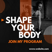 shape your body generic fitness advertisement Сообщение Instagram template