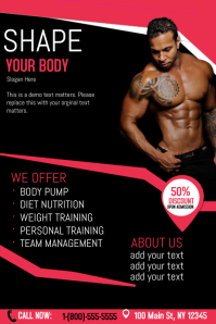 create fabulous fitness flyers in a flash postermywall