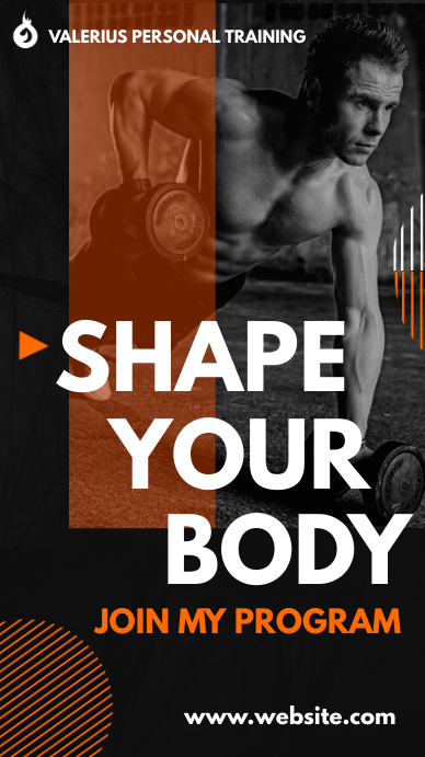 shape your body whatsapp status instagram sto template