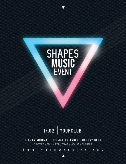 SHAPES MUSIC EVENT Flyer Template